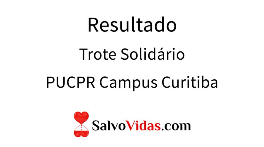 Resultado Trote Solidário PUCPR campus Curitiba 2017
