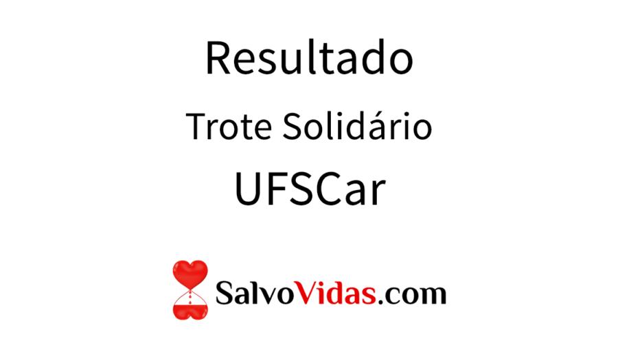 Resultado Trote Solidário UFSCar 2017.1