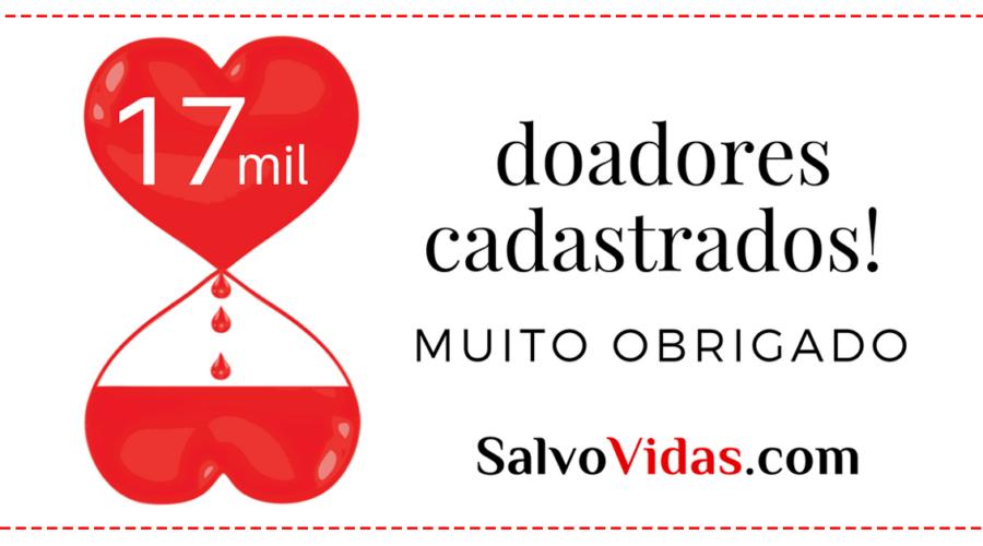Somos mais de 17 mil doadores de sangue!
